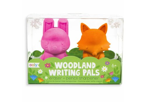 Ooly Woodland writing pals - eraser & sharpener
