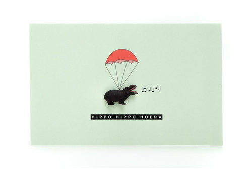 Leuke Kaartjes Luckies nijlpaard
