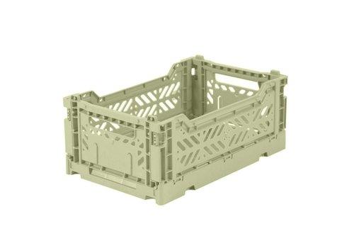 Aykasa Foldable crate mini lime cream