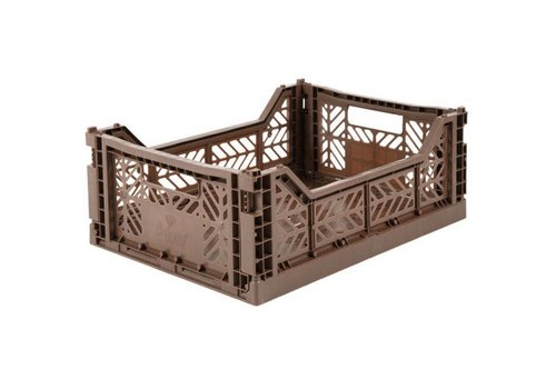 Aykasa Foldable crate midi brown