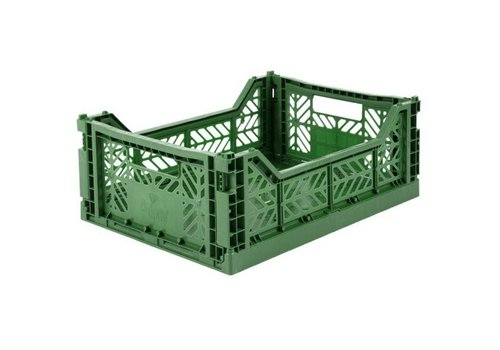 Aykasa Foldable crate midi dark green