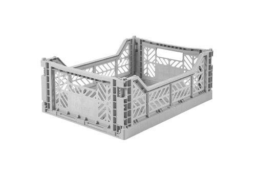 Aykasa Foldable crate midi grey