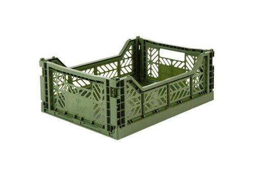 Aykasa Foldable crate midi khaki