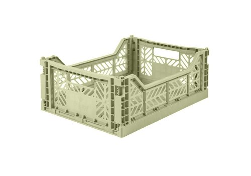 Aykasa Foldable crate midi lime cream