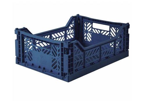 Aykasa Foldable crate midi navy