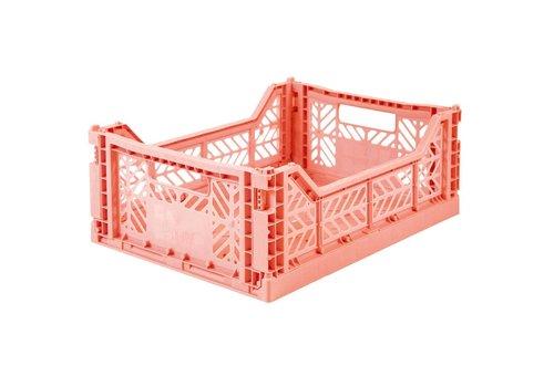 Aykasa Foldable crate midi salmon pink
