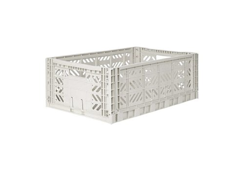 Aykasa Foldable crate maxi light grey