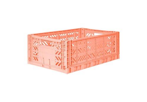 Aykasa Foldable crate maxi salmon pink
