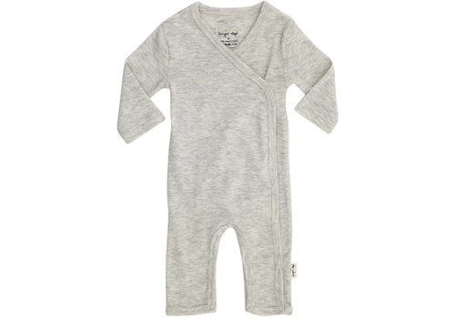 Konges Sløjd Newborn onesie light grey melange