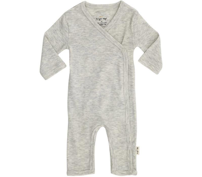 New born onesie light grey melange