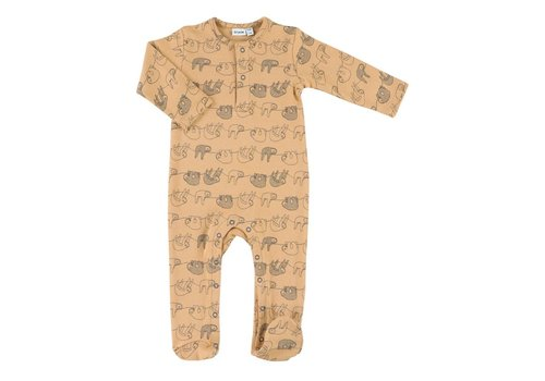 Trixie Baby Onesie with feet Silly Sloth