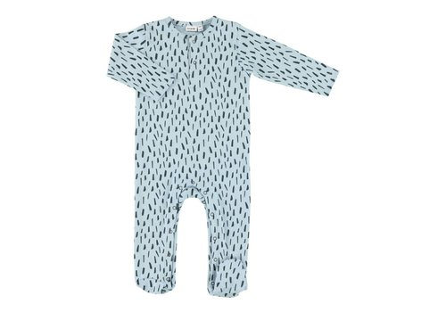 Trixie Baby Onesie with feet Blue Meadow