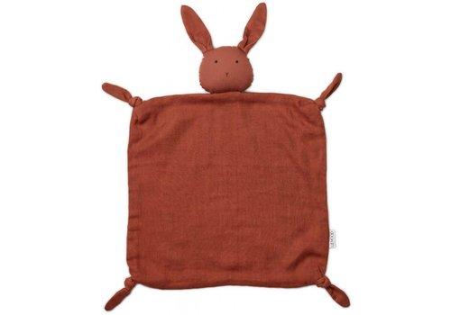 Liewood Agnete cuddle cloth Rabbit rusty
