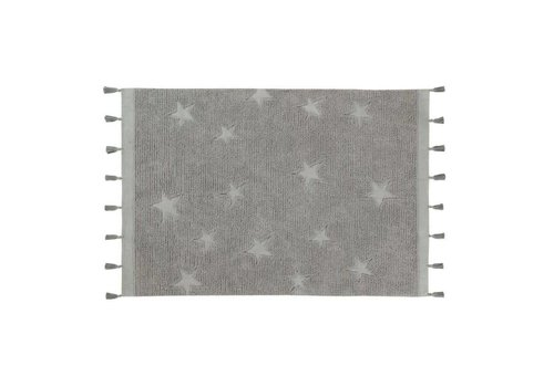 Lorena Canals Rug Hippy Stars 120x175 grey