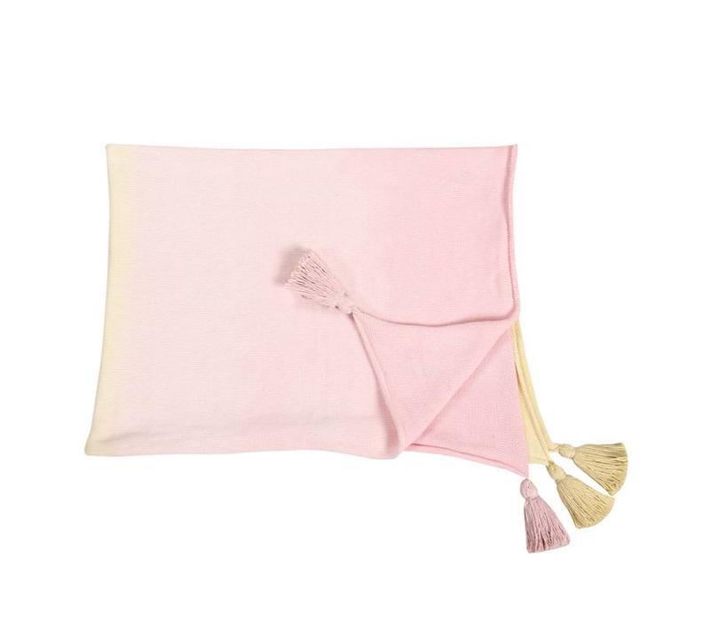 Babydeken Ombré 100x120 Vanilla-Soft Pink