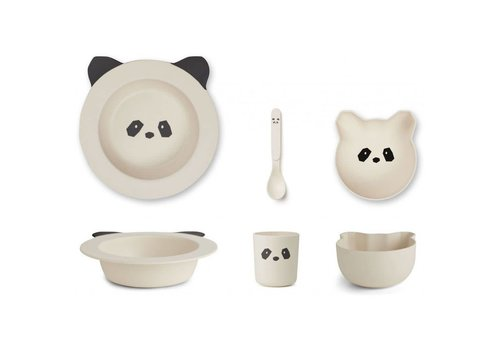 Liewood Barbara bamboe babyset Panda creme de la creme