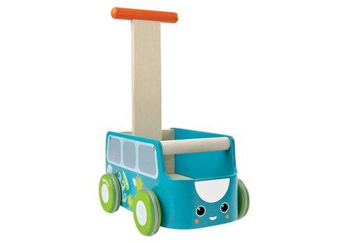PlanToys Loopwagen Blauw
