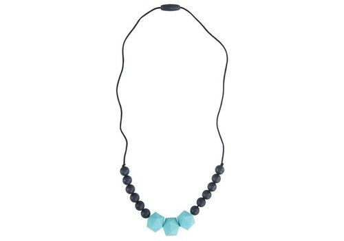 Nibbling Necklace Wetherby turquoise/black