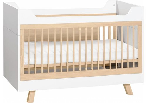 Vox 4 YOU Cot Bed 140x70 (Desk + infant Bed included) white/oak