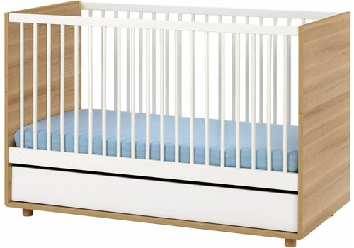 Vox EVOLVE Cot Bed 140x70 (infant Bed included) white/oak