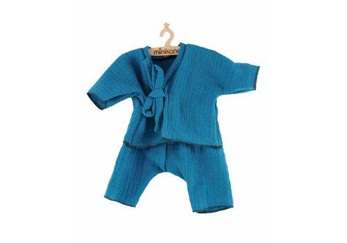 Minikane Kimono lange bleu