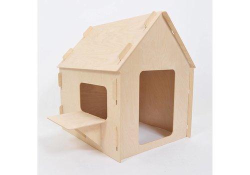 Wool & Woodies Speelhuisje 80cm met krijtbord