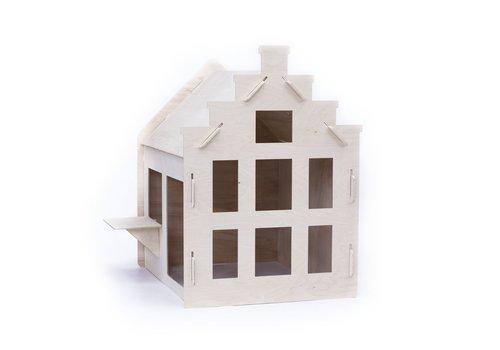 Wool & Woodies Speelhuisje Trapgevel 120cm met krijtbord