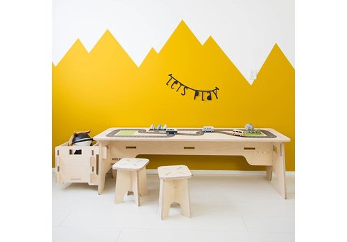 Wool & Woodies Playtable 120cm with roadprint