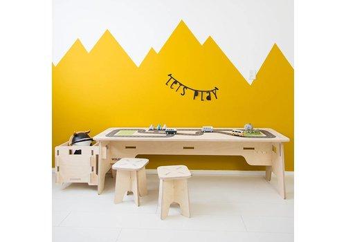 Wool & Woodies Speeltafel 120cm met wegenprint
