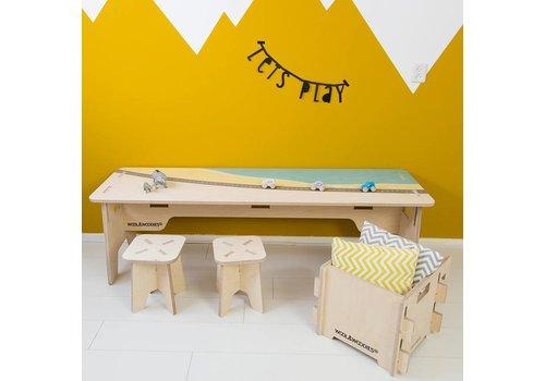 Wool & Woodies Playtable 165cm with beach print