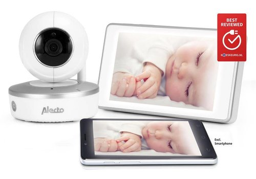 "Alecto Wifi babyfoon DIVM-550 met camera en 5"" touchscreen"
