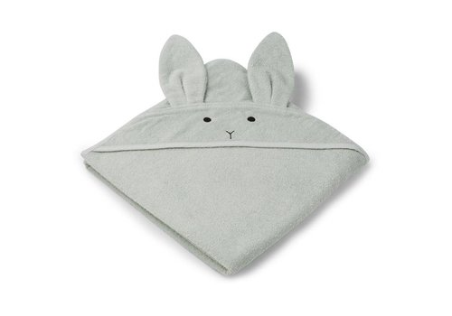 Liewood Handdoek Augusta 100x100 Rabbit Dusty Mint