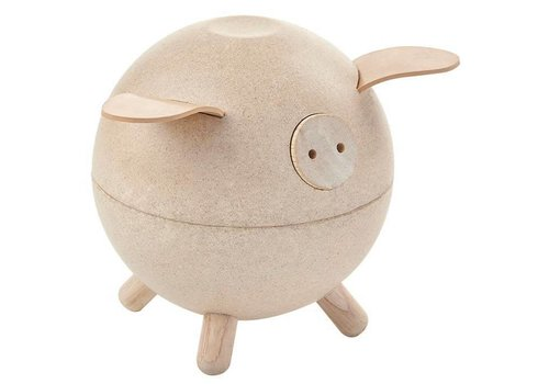 PlanToys Piggy Bank-white