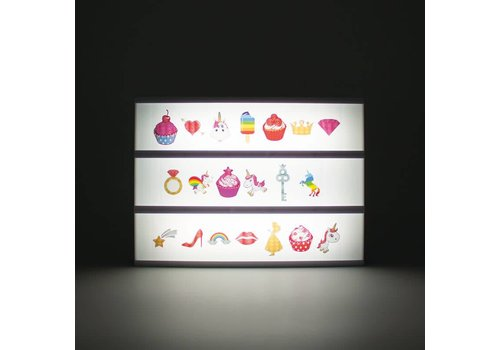 Letters voor A4 lightbox unicorn 20st