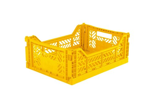 Aykasa Foldable crate midi yellow