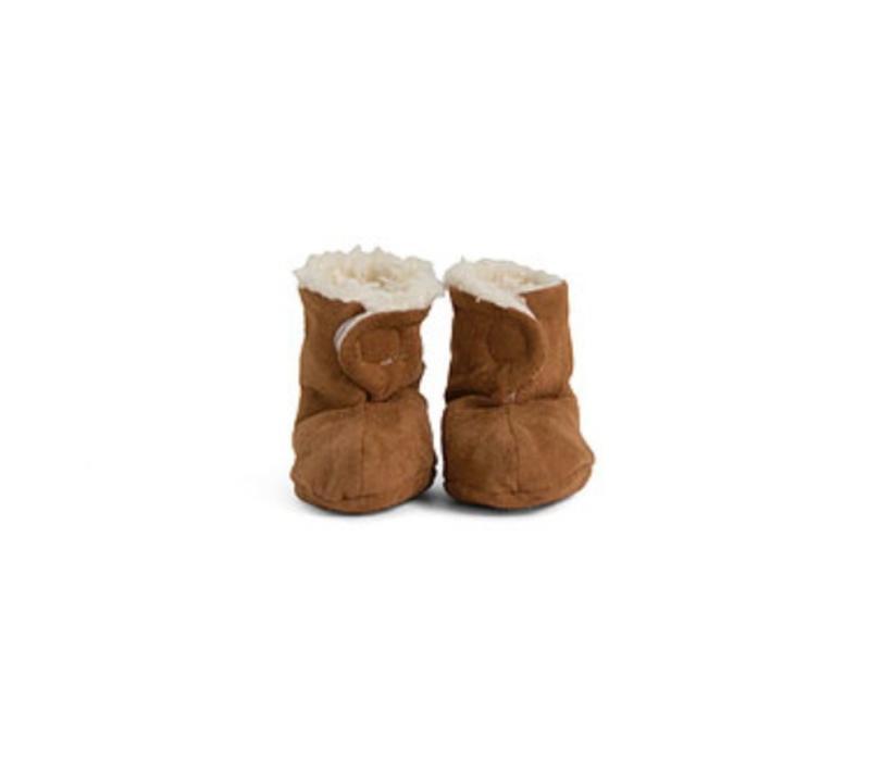 Pantoffels teddy/dierenvel 0-6m