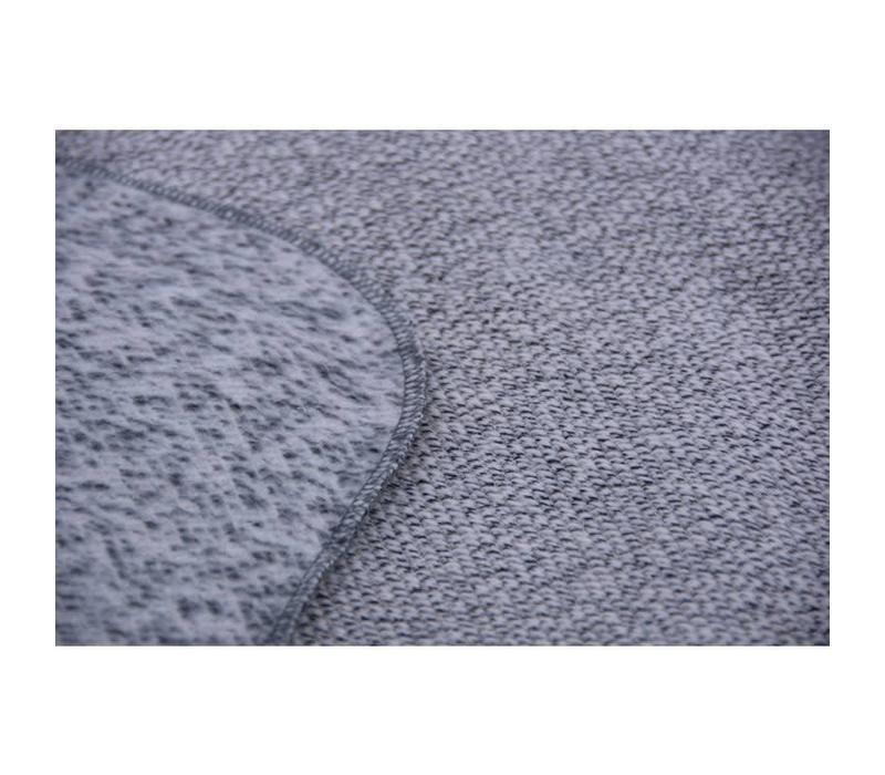 Wiegdeken gebreid 75x100cm Grey melange