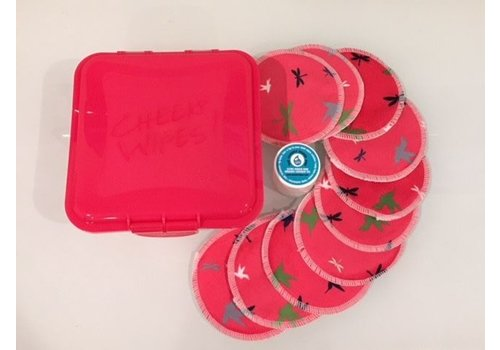 Cheeky Wipes Kit make-up verwijderen - pink dragonfly