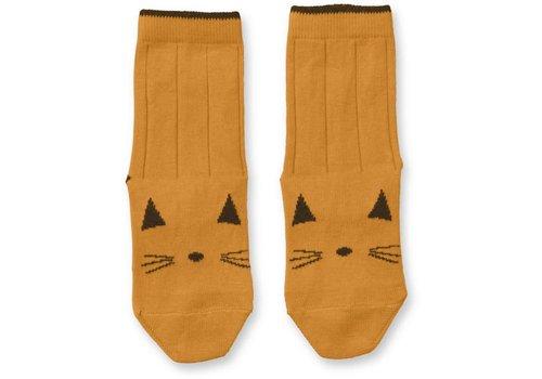 Liewood Silas socks Cat Mustard