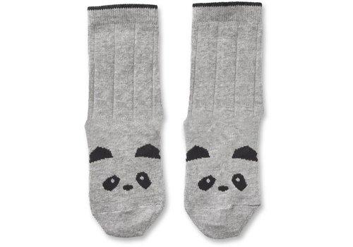 Liewood Silas kousen Panda Grey melange