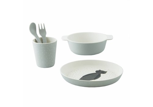 Trixie Baby Tableware gift set Mr. Raccoon