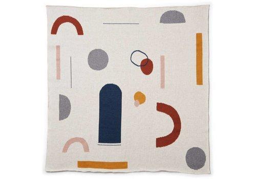 Liewood Deken jacquard Kamma Abstract off white