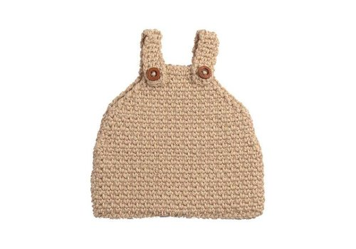 Minikane Bloomer with hat crochet beige