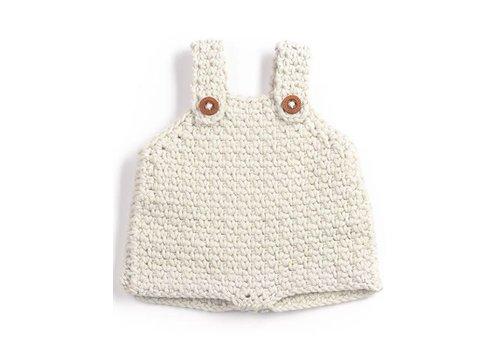 Minikane Bloomer en mutsje crochet écru