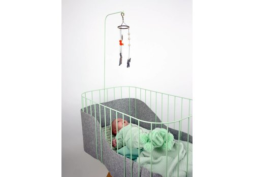 &me Baby crib mint/ light grey
