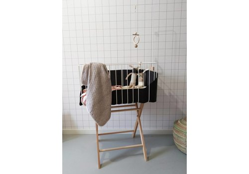 &me Baby crib white/ dark grey