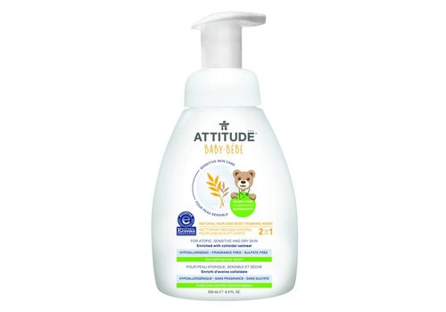 Attitude Sensitive Skin Hair and body foaming wash