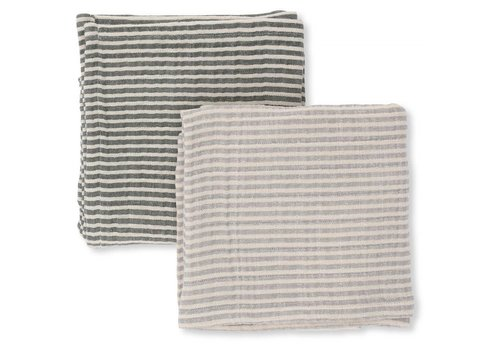 Konges Sløjd Muslin cloths 2-pack striped boy