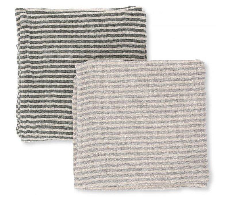 Muslin cloths 2-pack striped boy