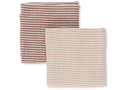 Konges Sløjd Muslin cloths 2-pack striped girl